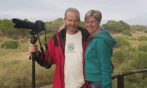 Your new hosts at Easy Five, Francis and Linda Moran, in a shot taken while they were on Safari in Sabi Sands in 2010.